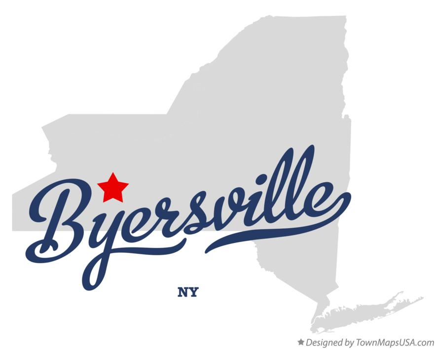 Map of Byersville New York NY