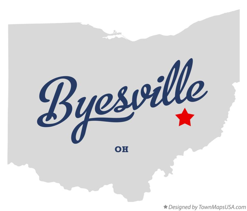 Map of Byesville Ohio OH
