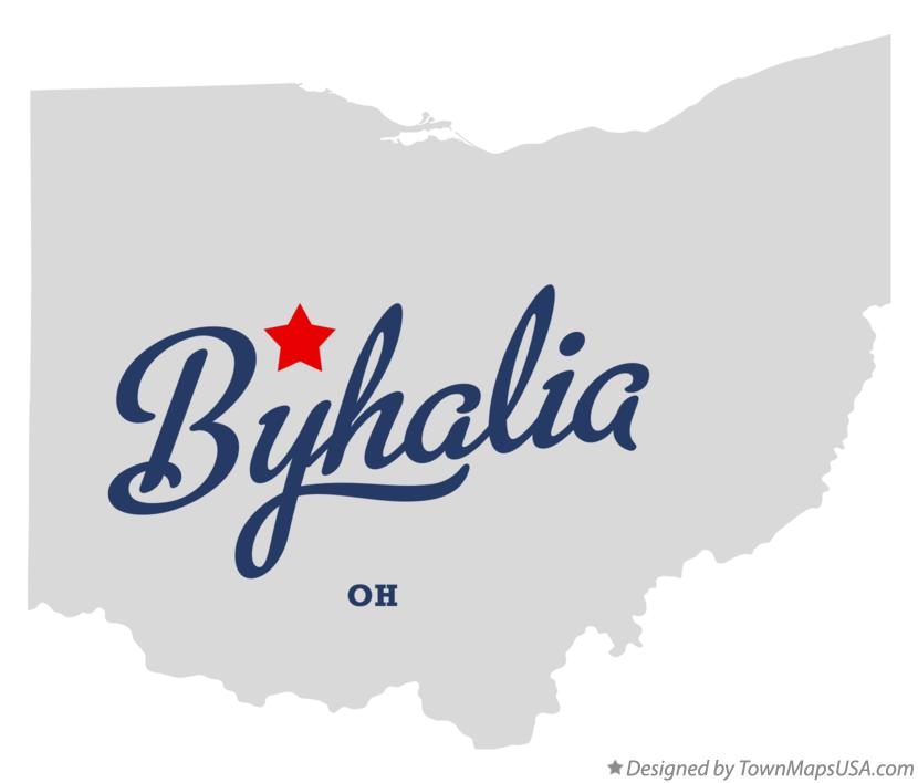 Map of Byhalia Ohio OH
