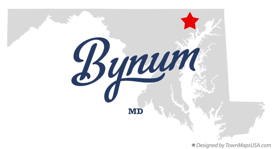 Map of Bynum Maryland MD