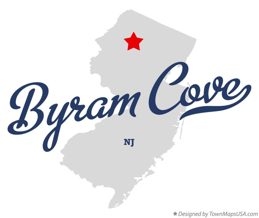 Map of Byram Cove New Jersey NJ
