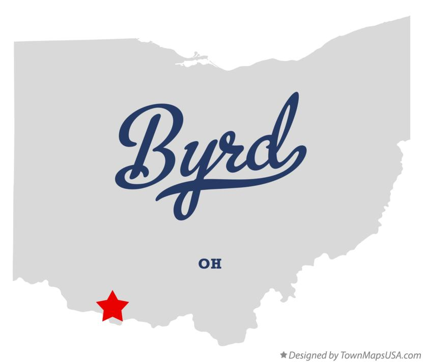Map of Byrd Ohio OH