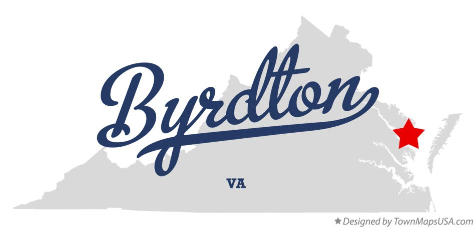 Map of Byrdton Virginia VA