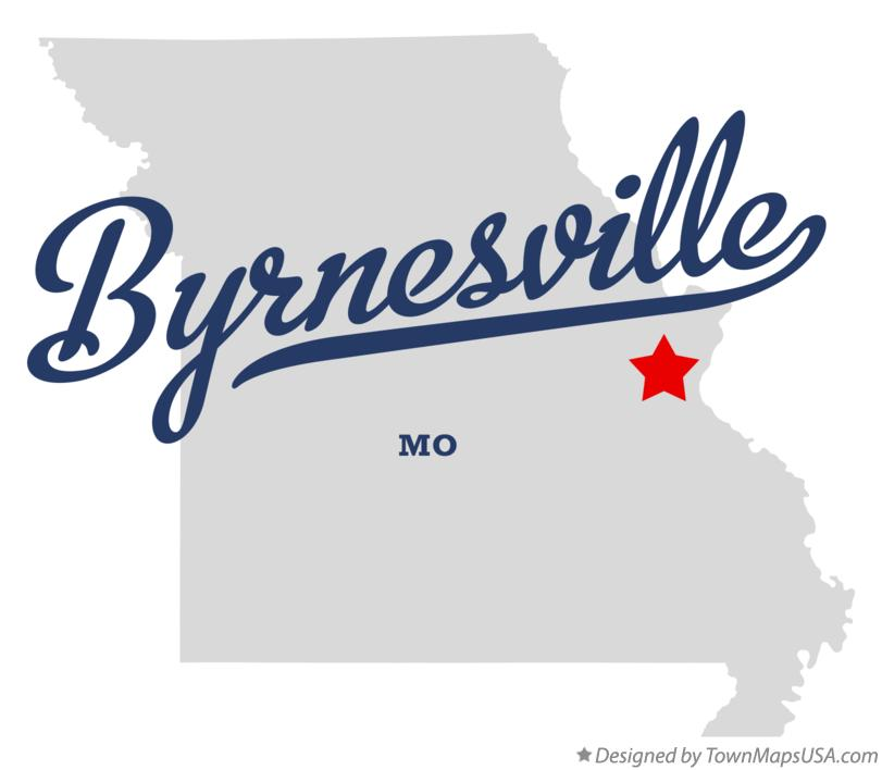 Map of Byrnesville Missouri MO