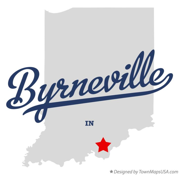 Map of Byrneville Indiana IN