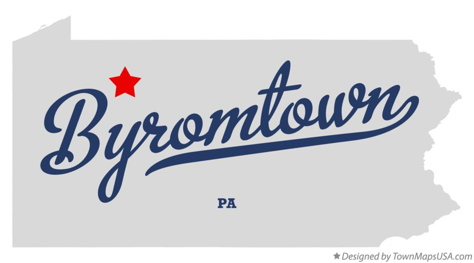 Map of Byromtown Pennsylvania PA