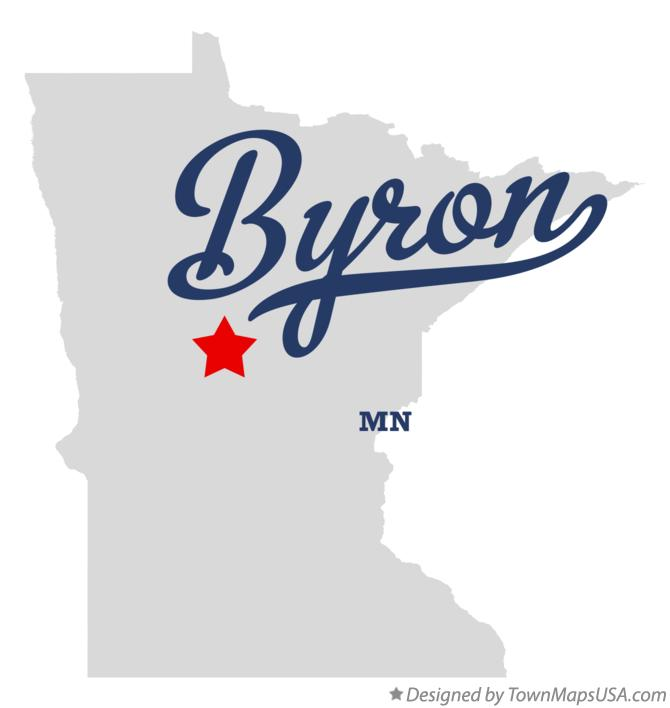Map of Byron Minnesota MN