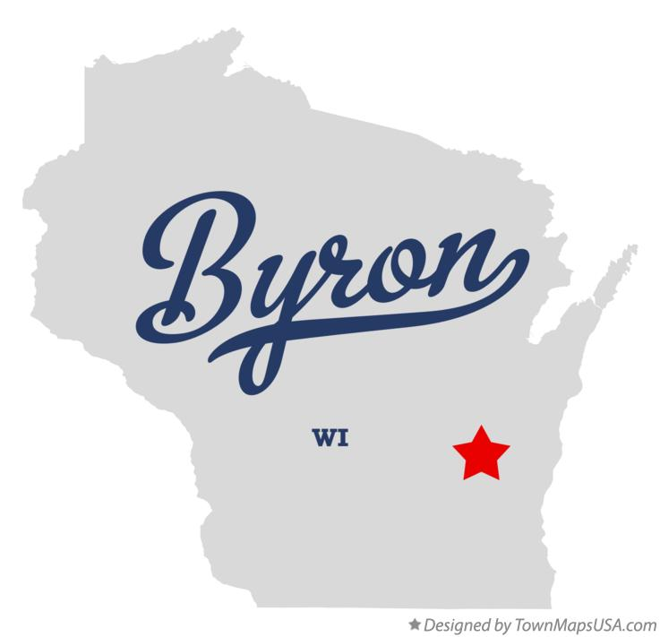 Map of Byron Wisconsin WI