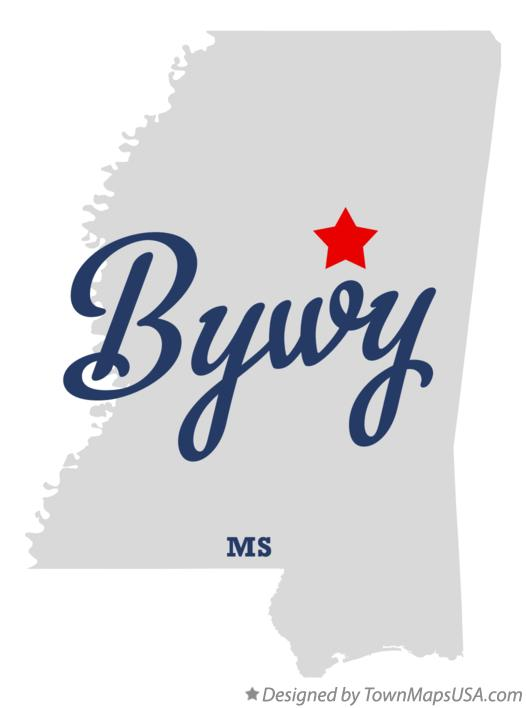 Map of Bywy Mississippi MS