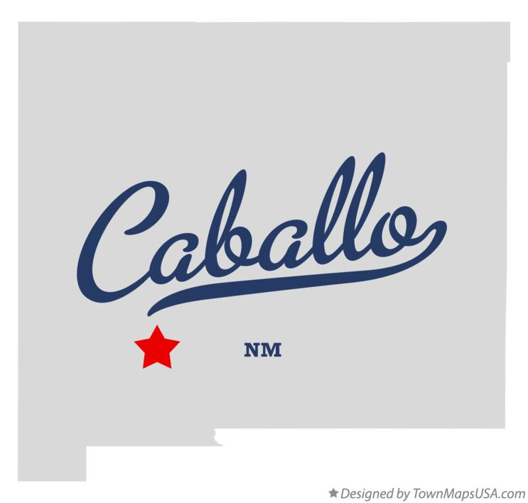 Map of Caballo New Mexico NM