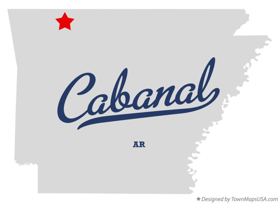 Map of Cabanal Arkansas AR