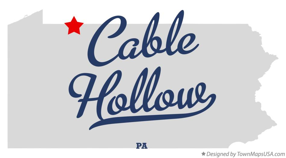 Map of Cable Hollow Pennsylvania PA