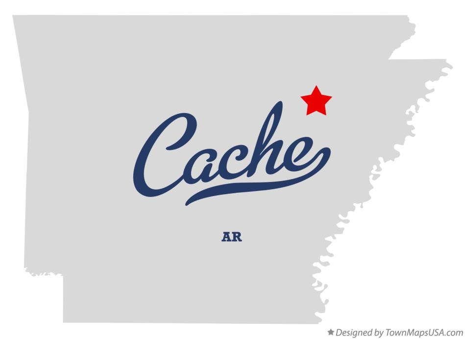 Map of Cache Arkansas AR