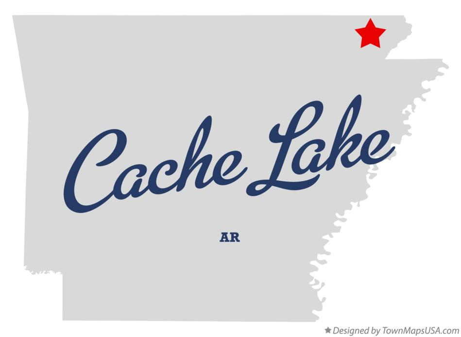 Map of Cache Lake Arkansas AR