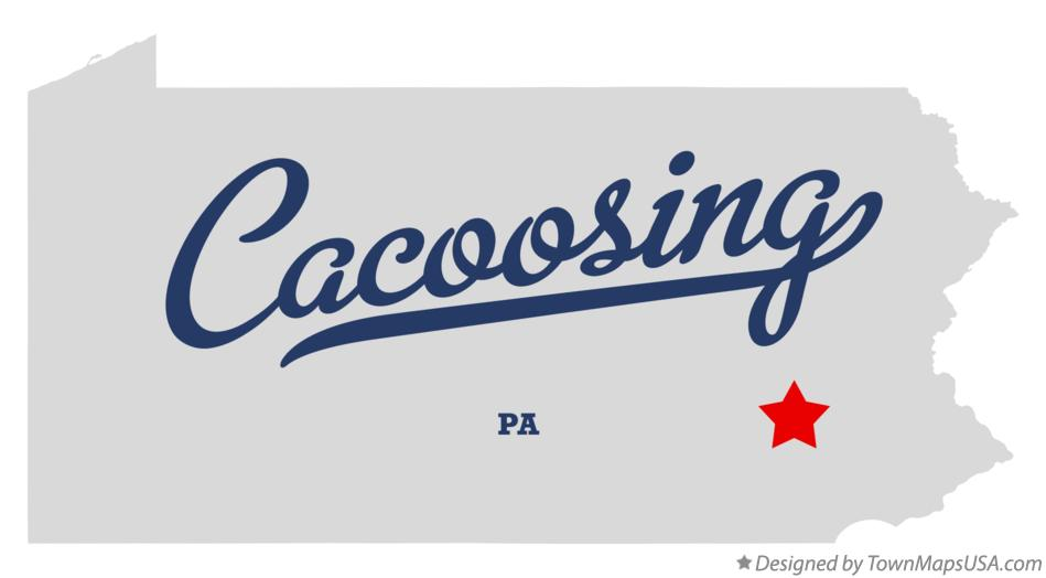 Map of Cacoosing Pennsylvania PA