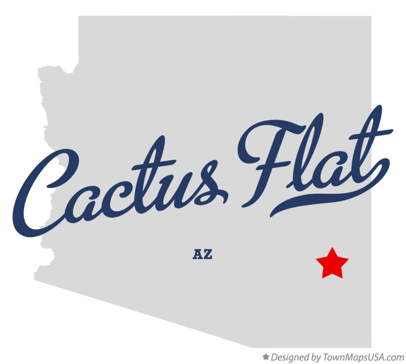 Map of Cactus Flat Arizona AZ