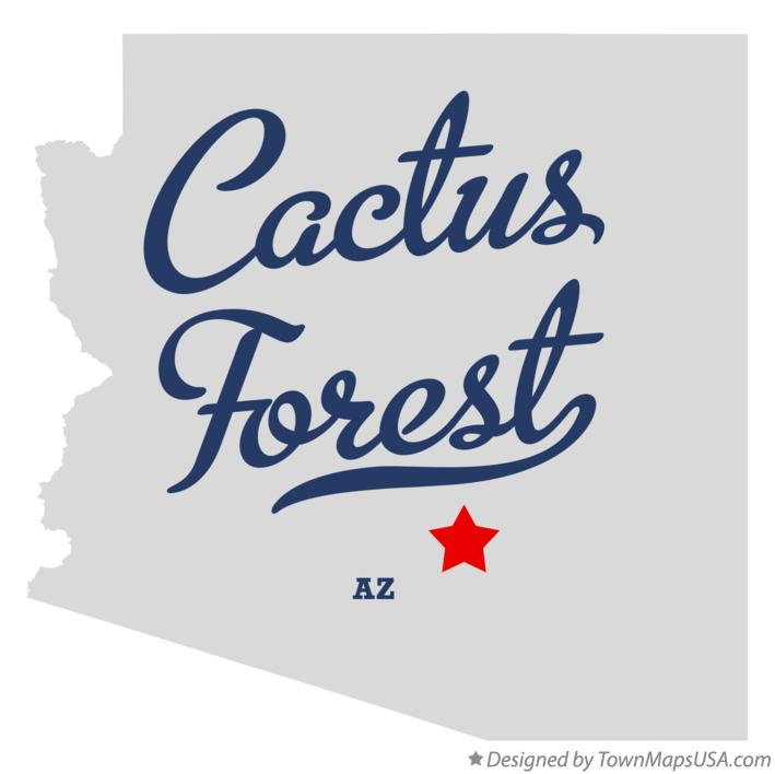 Map of Cactus Forest Arizona AZ