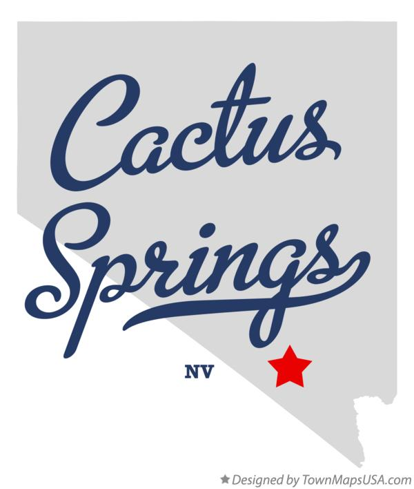 Map of Cactus Springs Nevada NV