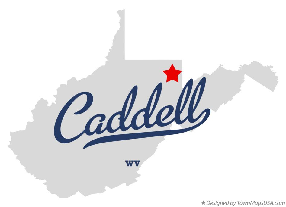 Map of Caddell West Virginia WV