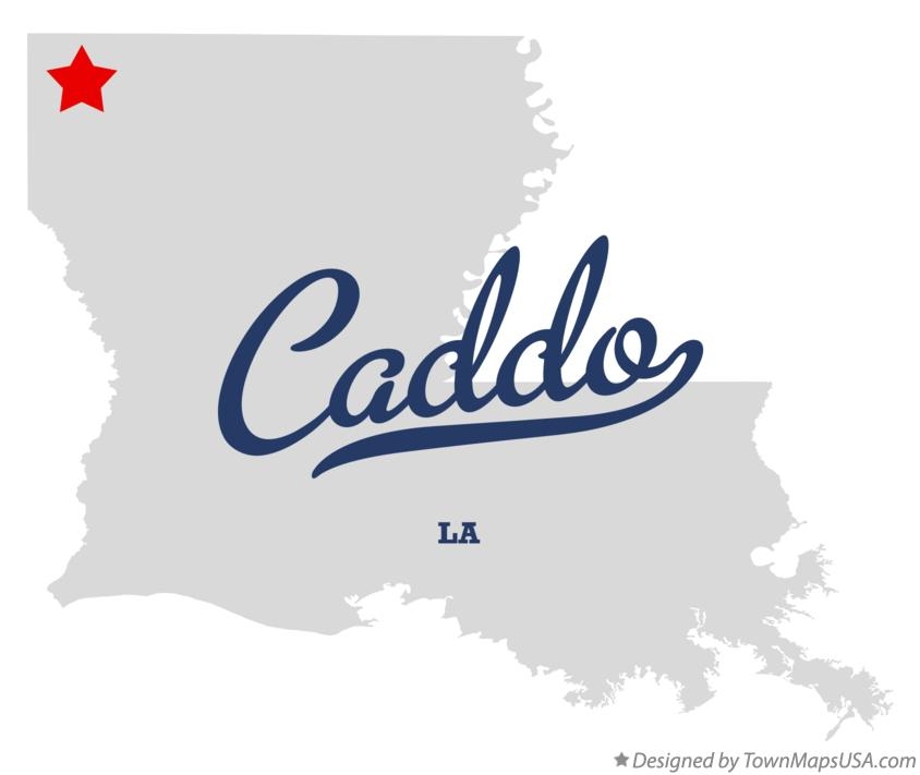 Map of Caddo Louisiana LA