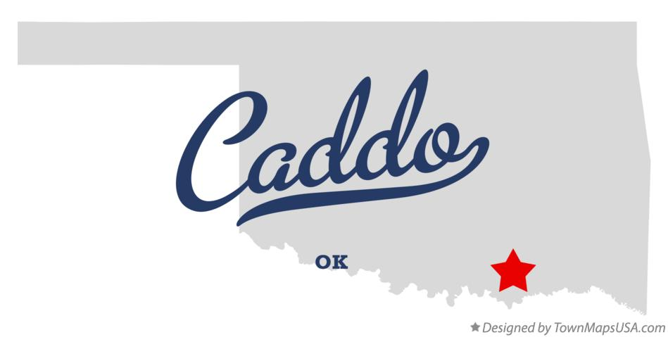 Map of Caddo Oklahoma OK