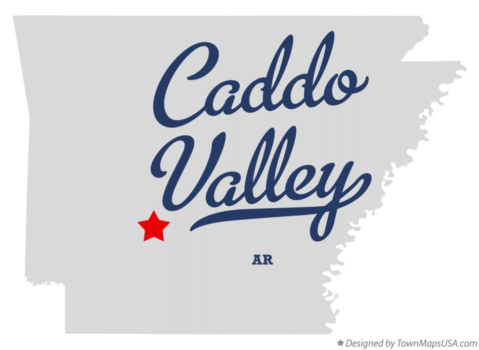 Map of Caddo Valley Arkansas AR