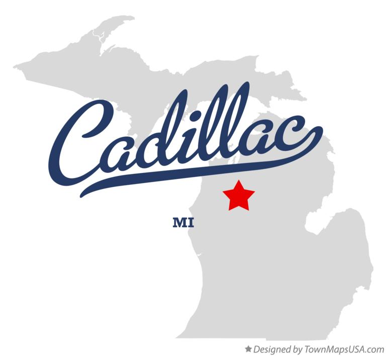 Map Of Cadillac Mi Michigan