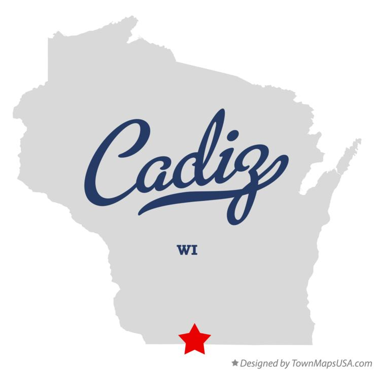Map of Cadiz Wisconsin WI