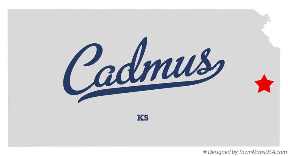 Map of Cadmus Kansas KS
