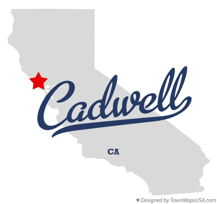 Map of Cadwell California CA