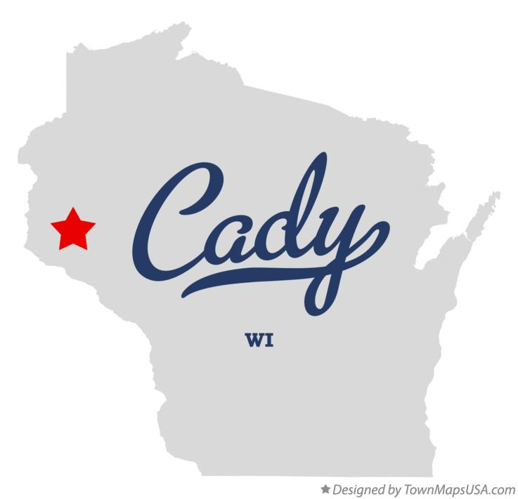 Map of Cady Wisconsin WI