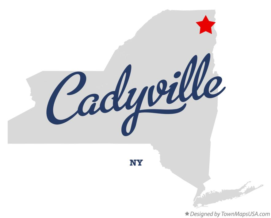 Map of Cadyville New York NY
