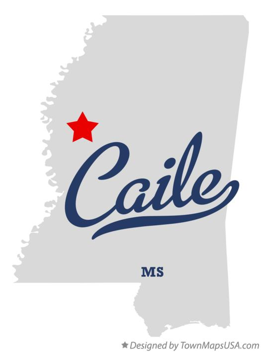 Map of Caile Mississippi MS