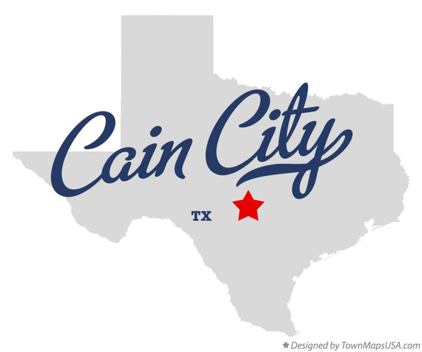 Map of Cain City Texas TX