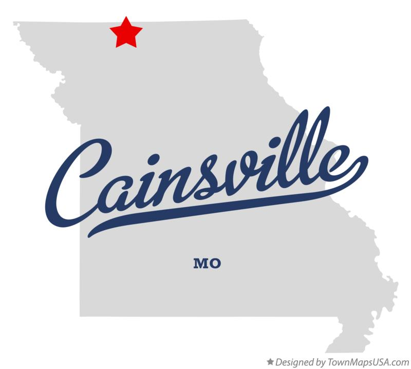 Map of Cainsville Missouri MO