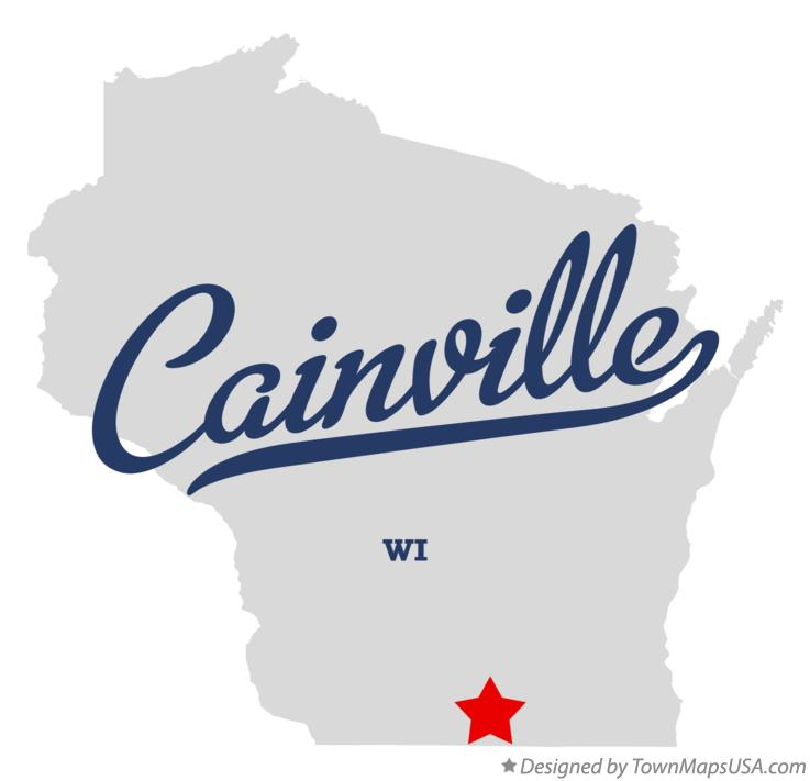 Map of Cainville Wisconsin WI