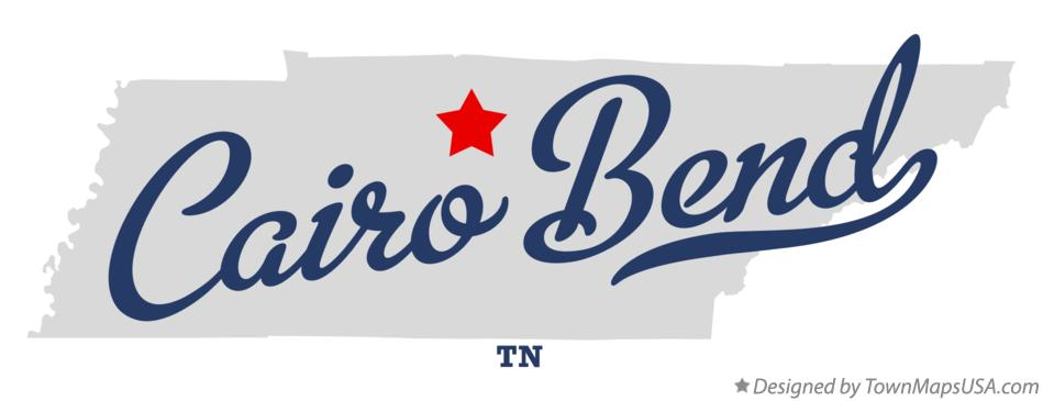 Map of Cairo Bend Tennessee TN