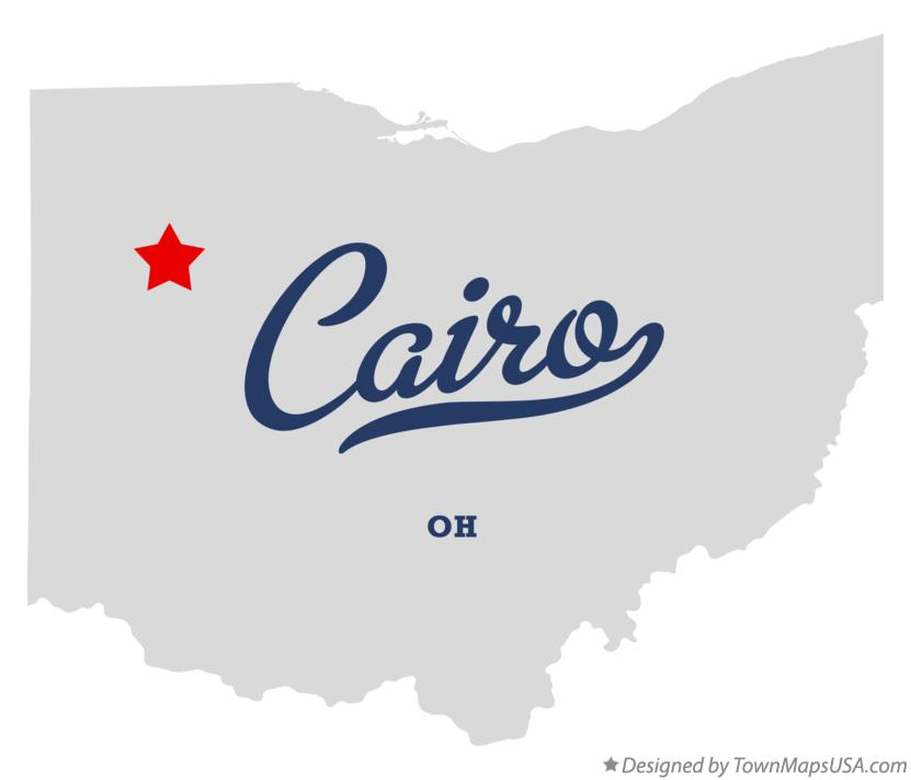 Map of Cairo Ohio OH