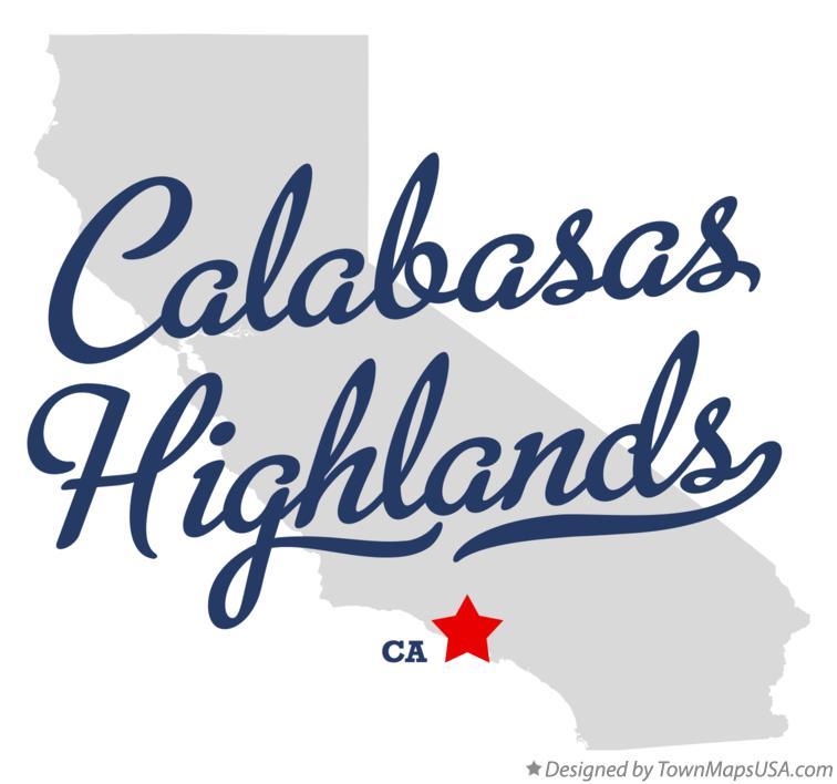 Map Of Calabasas Highlands Ca California