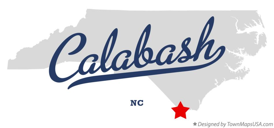 Map Of Calabash Nc North Carolina