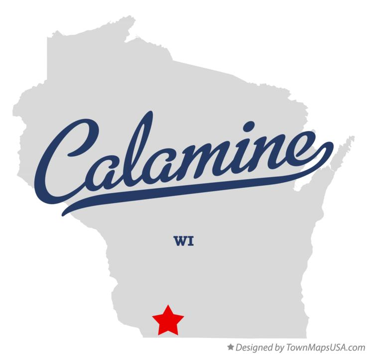 Map of Calamine Wisconsin WI