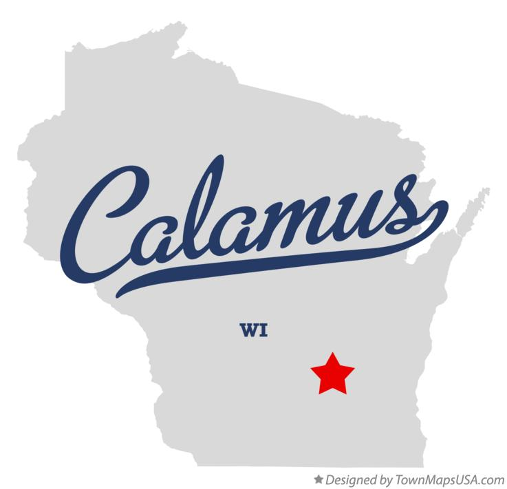 Map of Calamus Wisconsin WI
