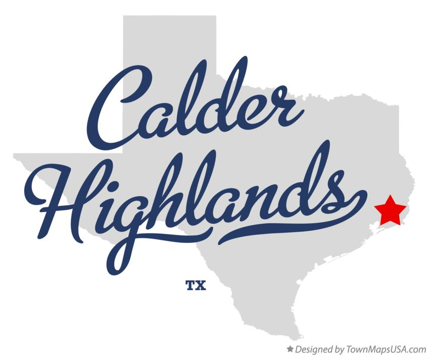 Map of Calder Highlands Texas TX