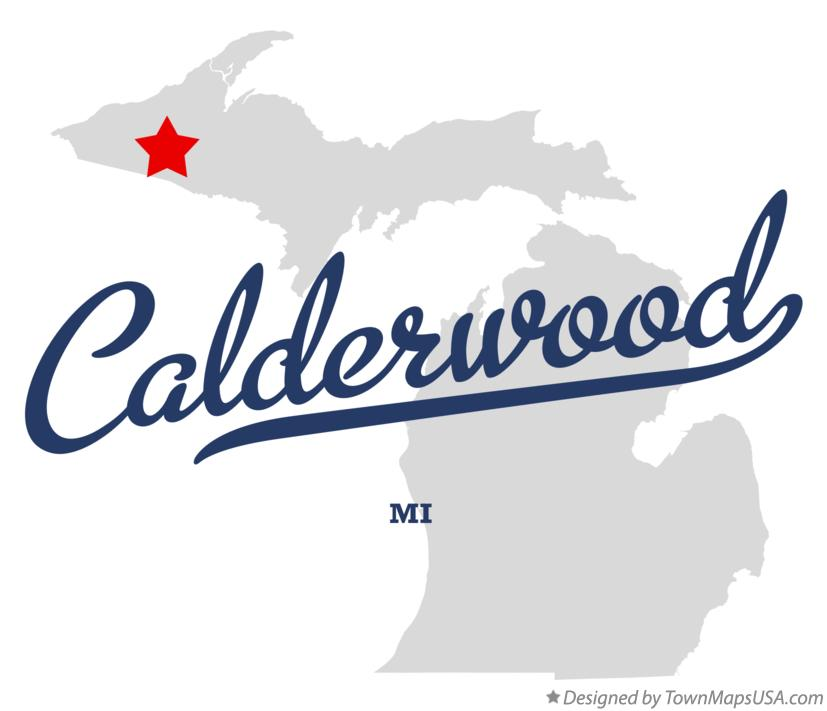 Map of Calderwood Michigan MI