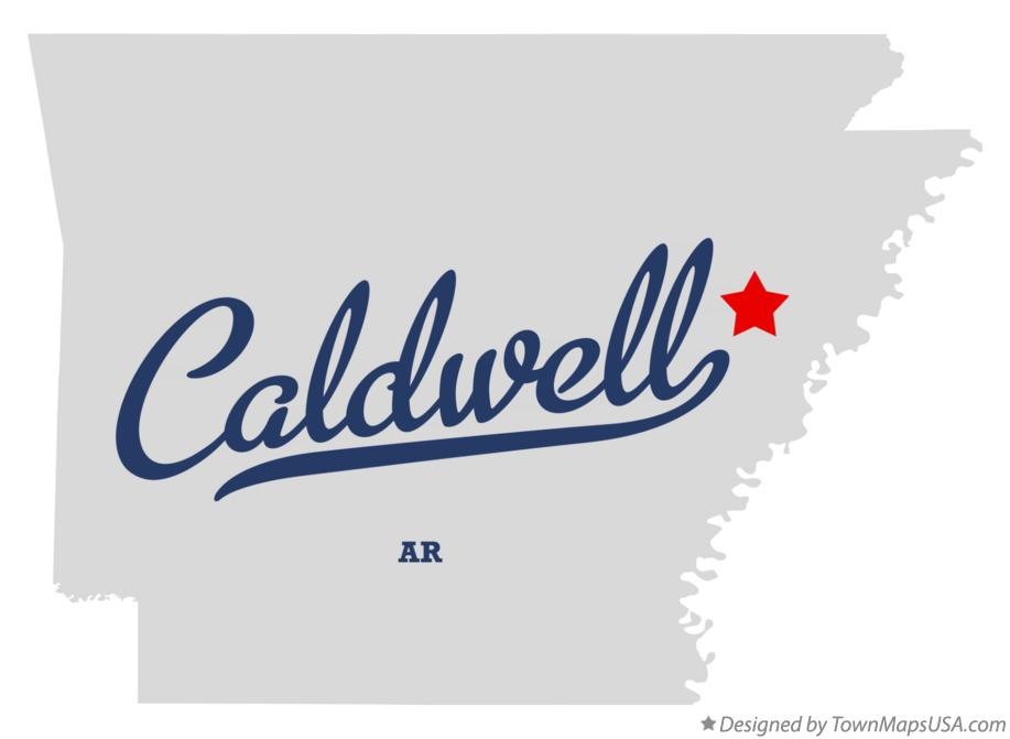 Map of Caldwell Arkansas AR