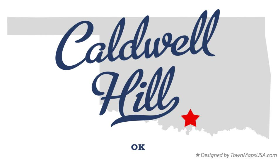 Map of Caldwell Hill Oklahoma OK