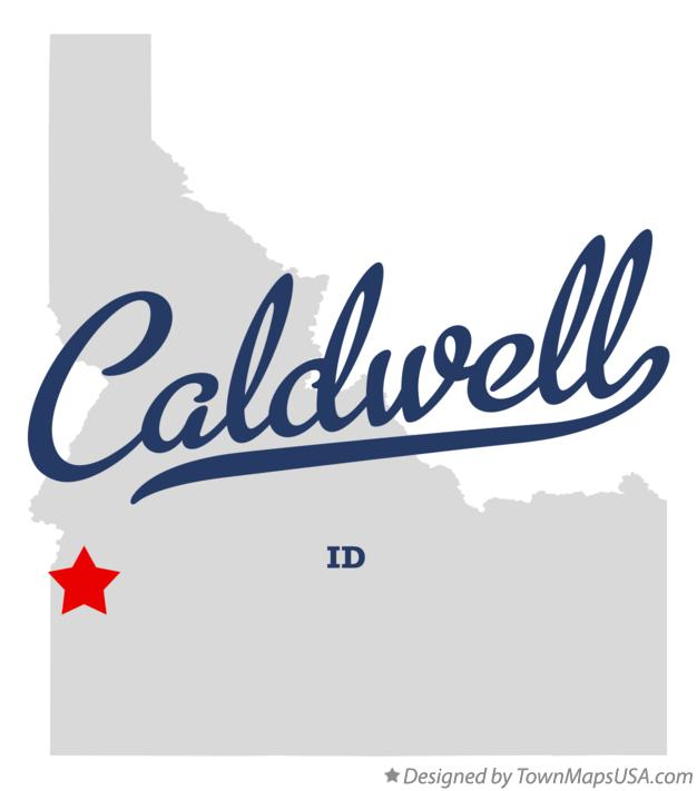 Map of Caldwell Idaho ID
