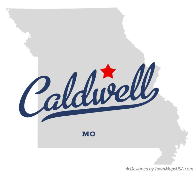Map of Caldwell Missouri MO
