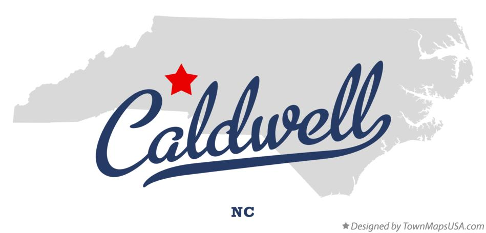 Map of Caldwell North Carolina NC