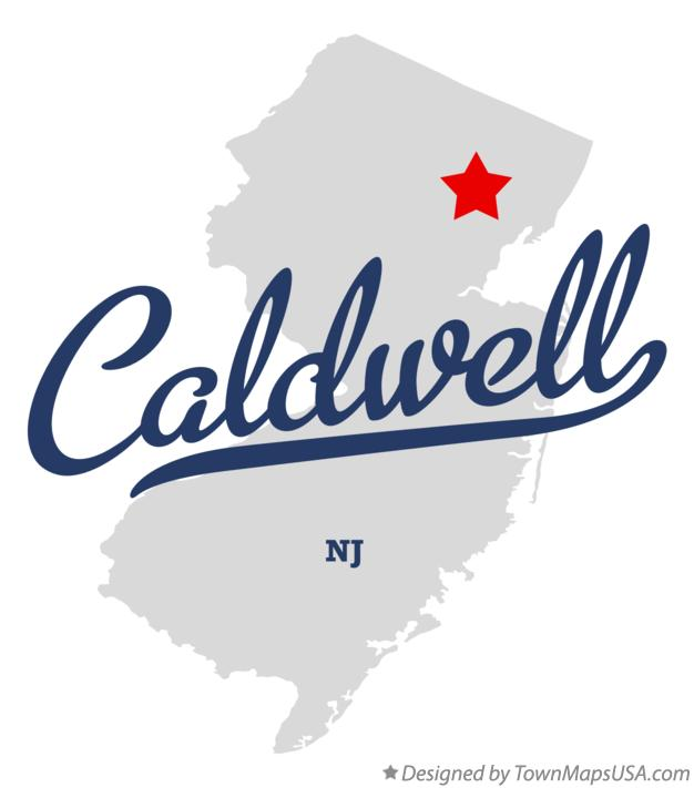 Map of Caldwell, NJ, New Jersey